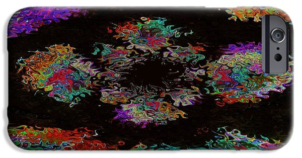 Modern Abstract iPhone Cases - Flower 296 iPhone Case by Lawrence Nusbaum