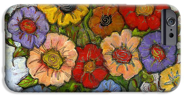 Colorful Paintings iPhone Cases - Flower Bouquet iPhone Case by Blenda Studio