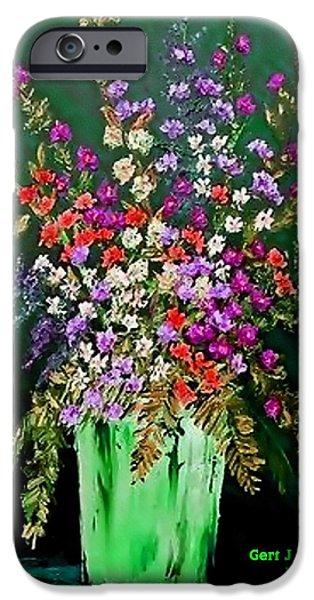 Best Sellers -  - Business Pastels iPhone Cases - Flower Bouquet Catus 1 no 2.1 V a iPhone Case by Gert J Rheeders