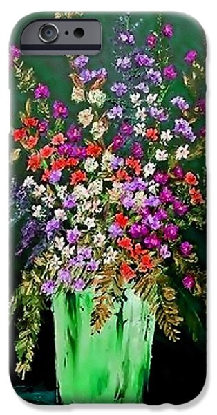 Best Sellers -  - Business Pastels iPhone Cases - Flower Bouquet Catus 1 no 2.1  V b iPhone Case by Gert J Rheeders