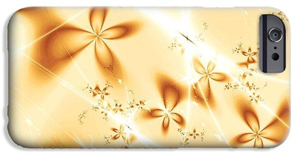 Sepia iPhone Cases - Flower Breeze iPhone Case by Anastasiya Malakhova