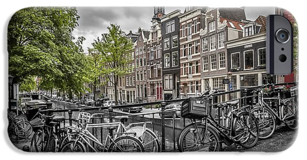 Old Town Digital iPhone Cases - Flower Canal Amsterdam iPhone Case by Melanie Viola