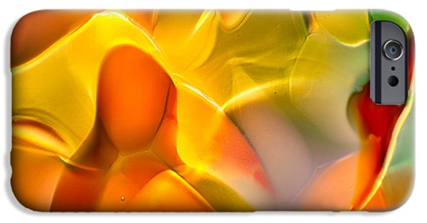 Fine Abstract Glass iPhone Cases - Flower Child iPhone Case by Omaste Witkowski
