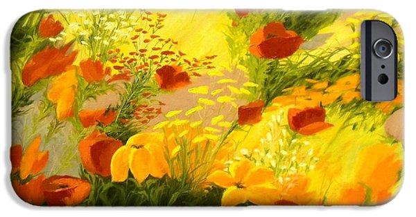 Windblown Paintings iPhone Cases - Flower Fantasy iPhone Case by Madeleine Holzberg