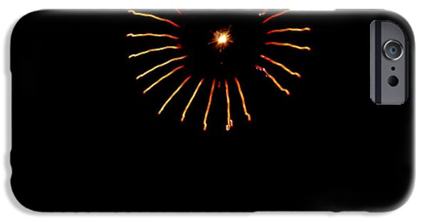 4th Of July iPhone Cases - Flower Fireworks iPhone Case by Robert Bales