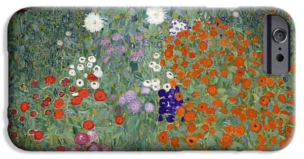 Petals iPhone Cases - Flower Garden iPhone Case by Gustav Klimt