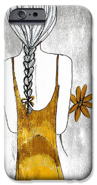 Flower Girl 2 iPhone Case by Anne Costello
