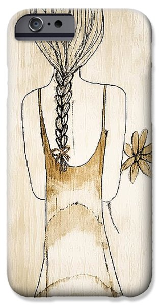 Flower Girl 3 iPhone Case by Anne Costello