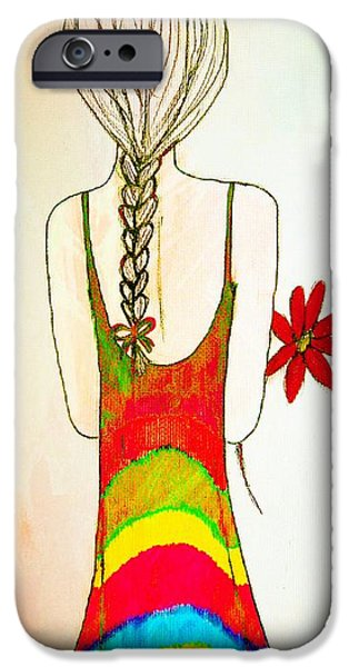 Flower Girl iPhone Case by Anne Costello