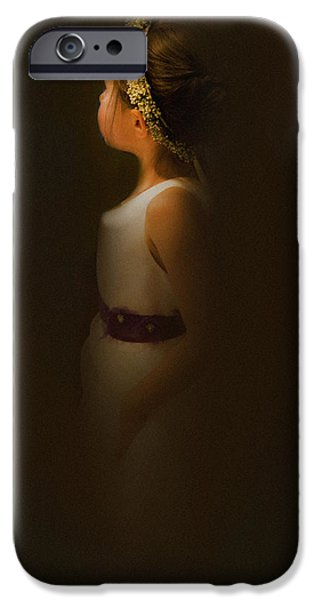 Innocence iPhone Cases - Flower Girl iPhone Case by Theresa Tahara