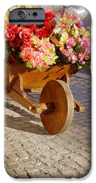 Drag iPhone Cases - Flower Handcart iPhone Case by Carlos Caetano