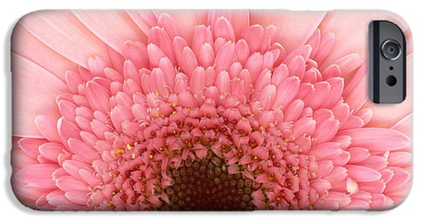 Scanography iPhone Cases - Flower - I LOVE Pink iPhone Case by Mike Savad