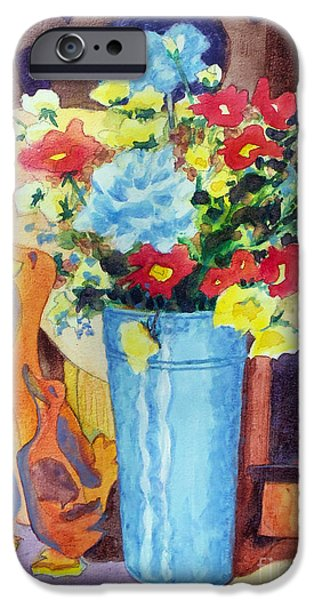 Ceramic Mixed Media iPhone Cases - Flower in the Dell iPhone Case by Kathy Braud