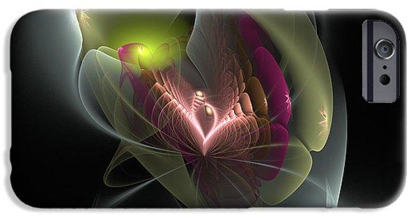 John Stewart iPhone Cases - Flower Like iPhone Case by John Norman Stewart