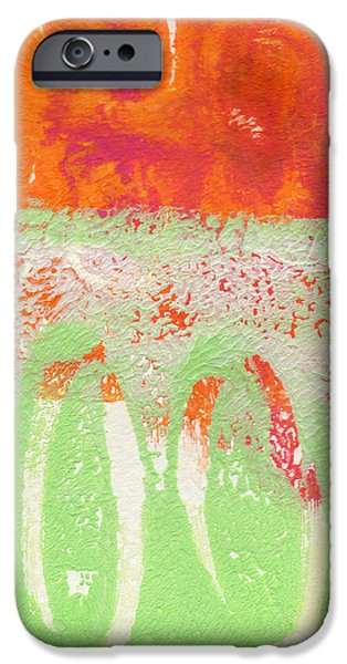 Contemporary Abstract iPhone Cases - Flower Market iPhone Case by Linda Woods