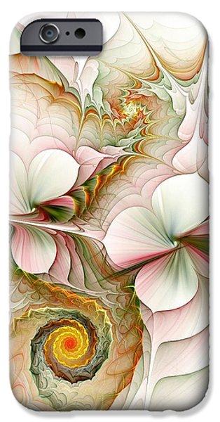 Large iPhone Cases - Flower Motion iPhone Case by Anastasiya Malakhova