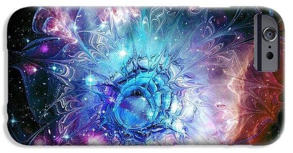 Beauty iPhone Cases - Flower Nebula iPhone Case by Anastasiya Malakhova