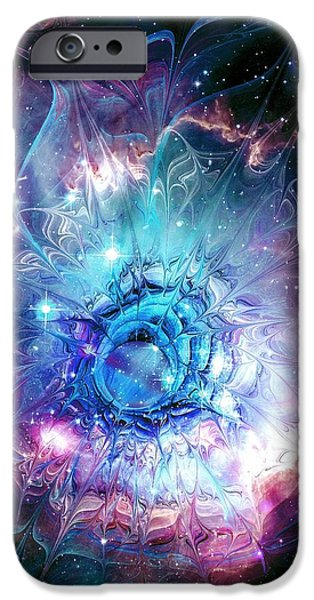 Recently Sold -  - Floral Digital Art Digital Art iPhone Cases - Flower Nebula iPhone Case by Anastasiya Malakhova