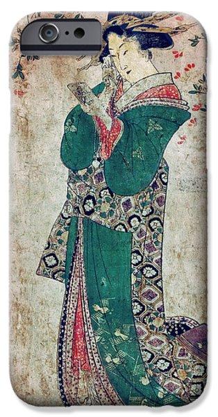 Aristocrat iPhone Cases - FLOWER of JAPAN c. 1804 iPhone Case by Daniel Hagerman