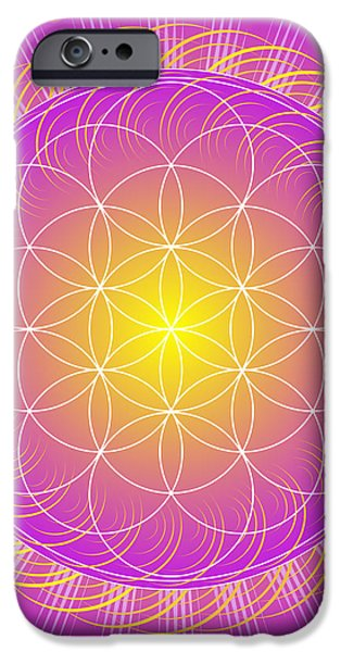 Flower of Life iPhone Case by Sarah  Niebank