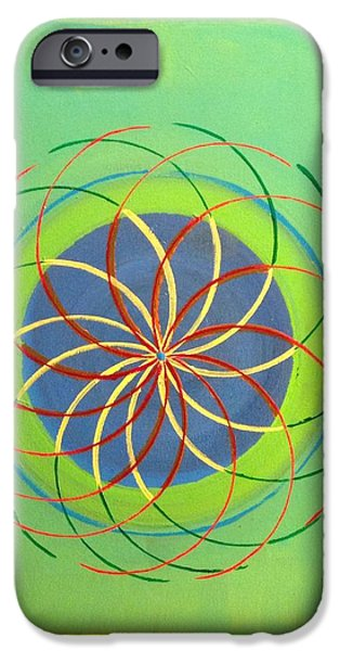 Flower Of Life Mixed Media iPhone Cases - Flower of life  iPhone Case by Timothy  Kehoe