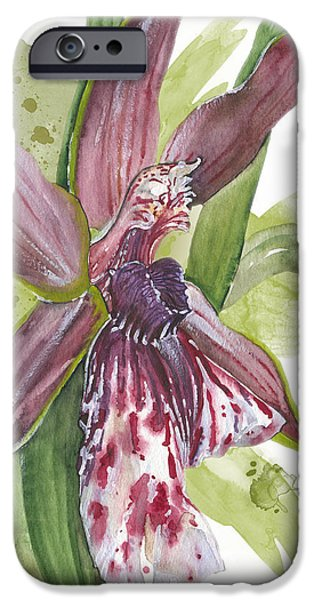 Flower ORCHID 10 Elena Yakubovich iPhone Case by Elena Yakubovich