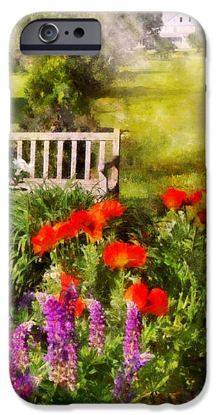 Flower - Poppy - Piece of heaven iPhone Case by Mike Savad