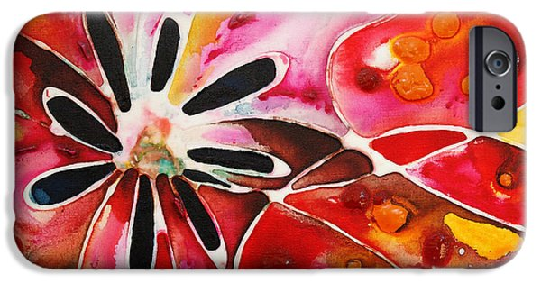 Stretched Canvas iPhone Cases - Flower Power - Abstract Floral By Sharon Cummings iPhone Case by Sharon Cummings