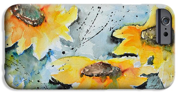 Ismeta iPhone Cases - Flower Power- Floral Painting iPhone Case by Ismeta Gruenwald