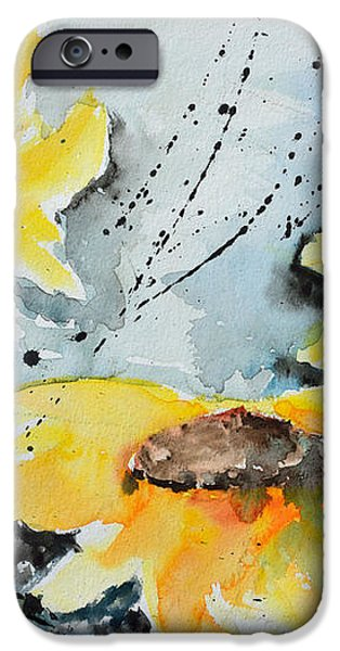 Flower Power- Floral Painting iPhone Case by Ismeta Gruenwald