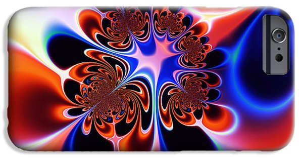 Abstract Digital iPhone Cases - Flower Power iPhone Case by Ian Mitchell