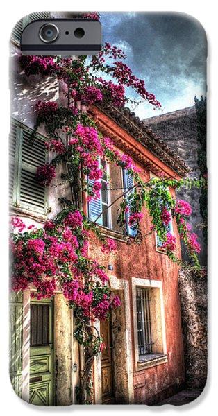 St.tropez iPhone Cases - Flower Power in St. Tropez iPhone Case by Bruce Swindlehurst