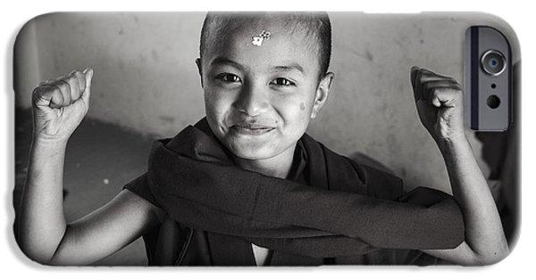 Tibetan Buddhism iPhone Cases - Flower Power iPhone Case by Valerie Rosen