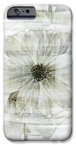 Flower Still Life Mixed Media iPhone Cases - Flower Reflection iPhone Case by Frank Tschakert