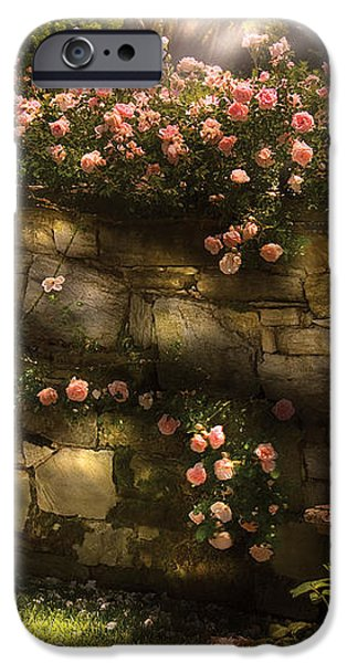 Flower - Rose - In the rose garden  iPhone Case by Mike Savad