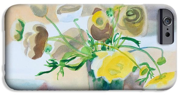 Nature Abstracts iPhone Cases - Flower Still Life          iPhone Case by Kathy Braud