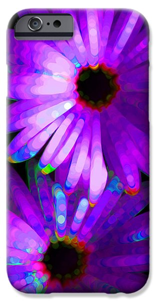 Photographs Mixed Media iPhone Cases - Flower Study 6 - Vibrant Purple by Sharon Cummings iPhone Case by Sharon Cummings
