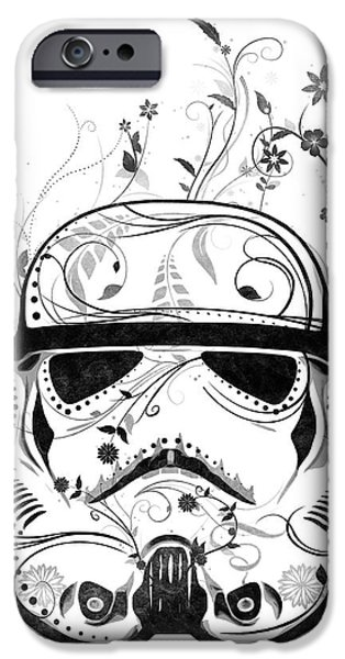 Swirl iPhone Cases - Flower Trooper iPhone Case by Nicklas Gustafsson