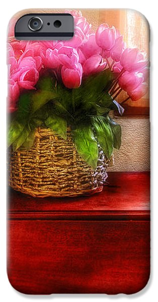Flower - Tulips by a Window iPhone Case by Mike Savad