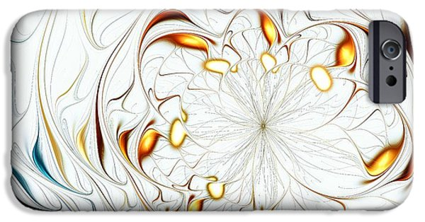 Anastasiya Mixed Media iPhone Cases - Flower Waves iPhone Case by Anastasiya Malakhova