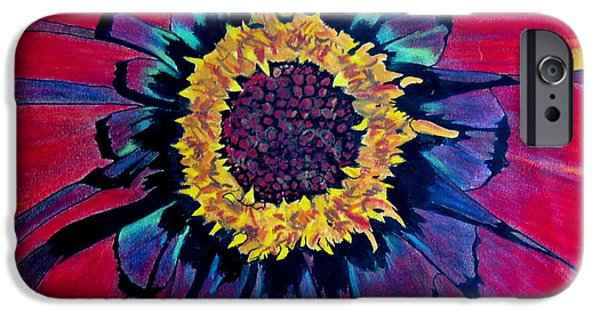 Vibrant Pastels iPhone Cases - Flowerburst iPhone Case by Rory Sagner