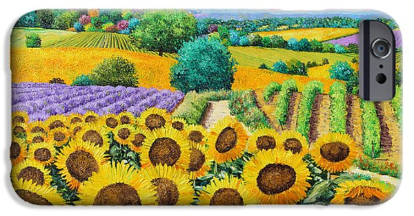 House Digital Art iPhone Cases - Flowered Garden iPhone Case by Jean-Marc Janiaczyk