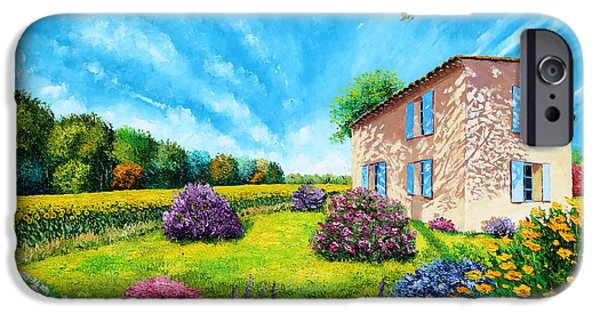 House Digital Art iPhone Cases - Flowered Garden iPhone Case by MGL Meiklejohn Graphics Licensing