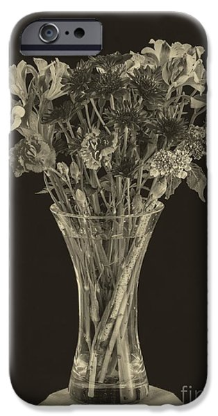 Flower Still Life Prints iPhone Cases - Flowers 1860s iPhone Case by Edward Fielding