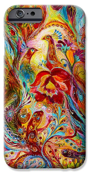 Judaica Prints Paintings iPhone Cases - Flowers and Fruits iPhone Case by Elena Kotliarker
