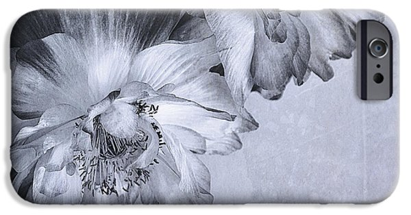 Canadian Photographer iPhone Cases - Flowers And Haiku iPhone Case by Theresa Tahara