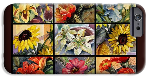 Marilyn Smith Paintings iPhone Cases - Flowers Everywhere iPhone Case by Marilyn Smith