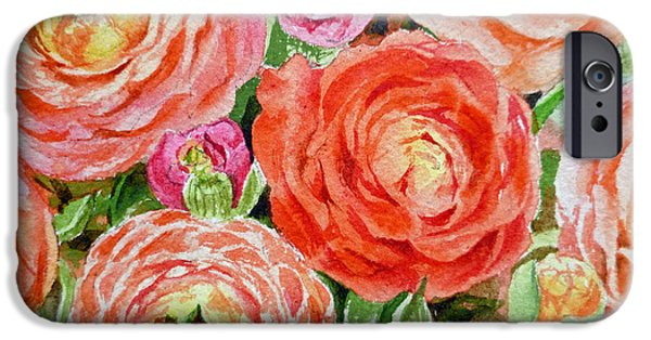 Rose iPhone Cases - Flowers Flowers Flowers iPhone Case by Irina Sztukowski