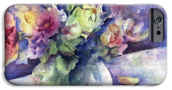 Business iPhone Cases - Flowers From the Imagination iPhone Case by Maria Hunt