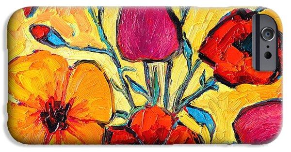 Abstract Expressionism iPhone Cases - Flowers Of Love iPhone Case by Ana Maria Edulescu